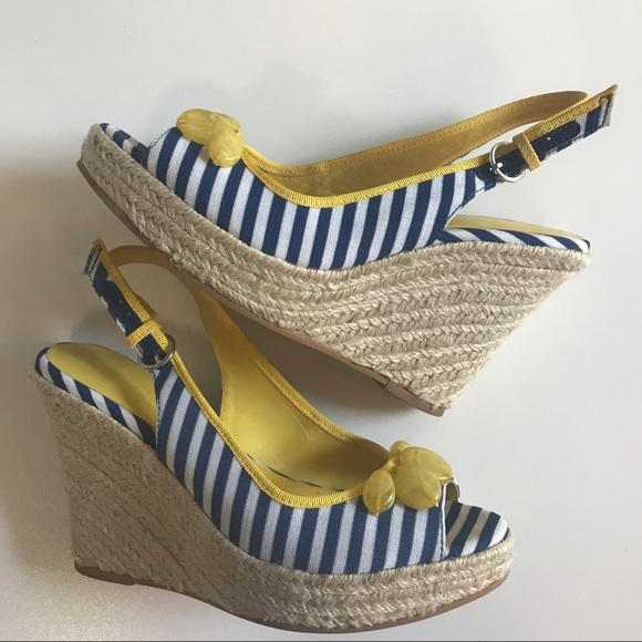 0f3a225660b Boden nautical stripe espadrille wedges